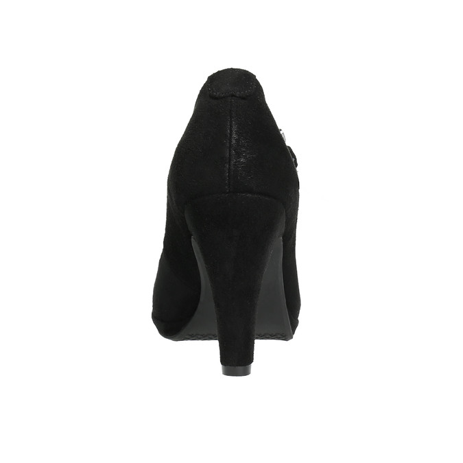 Černé lodičky s páskem přes nárt bata, černá, 729-6601 - 17