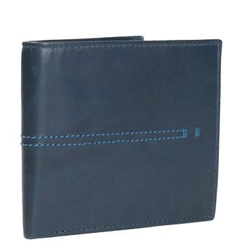 Kožená peněženka s prošíváním bata, modrá, 944-9176 - 13