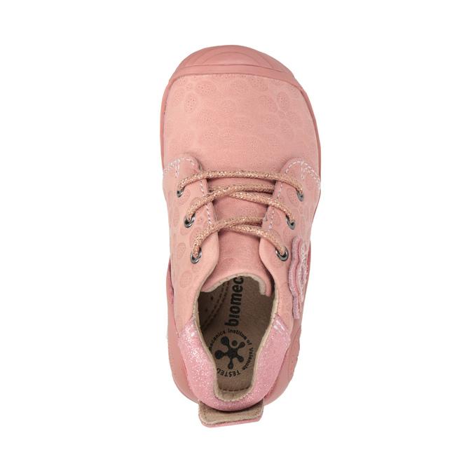 Dívčí kožená obuv růžová biomecanics, růžová, 124-5005 - 19