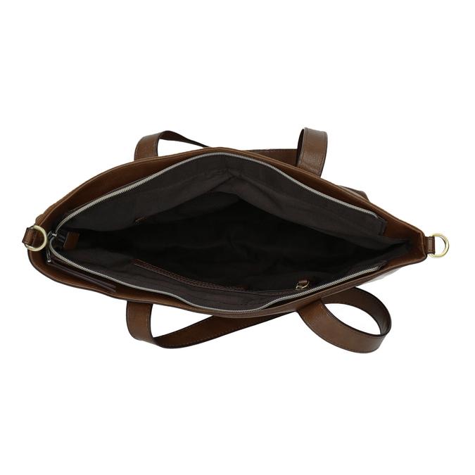 Dámská kabelka s asymetrickým zipem bata, hnědá, 961-3847 - 15