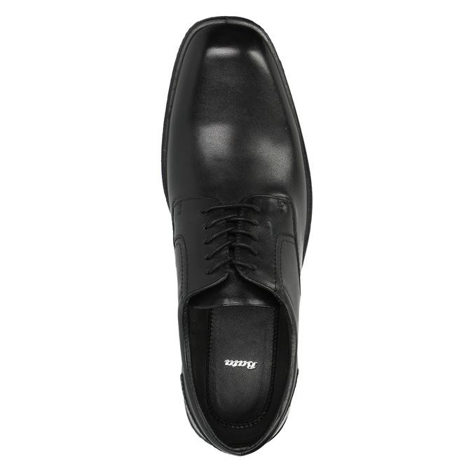 Černé kožené polobotky bata, černá, 824-6743 - 19