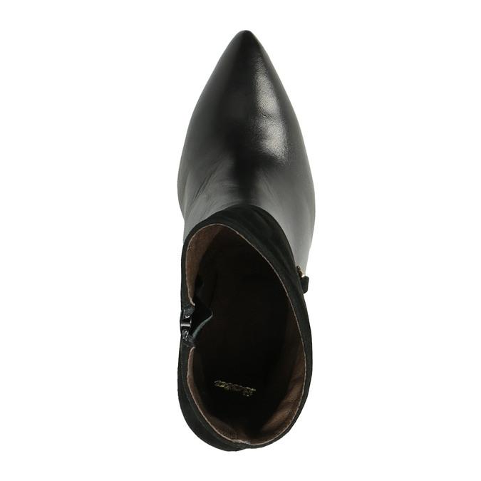 Kožená kotníčková obuv do špičky bata, černá, 794-6641 - 19