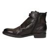 Kožená kotníčková obuv s přezkami bata, hnědá, 894-4683 - 26