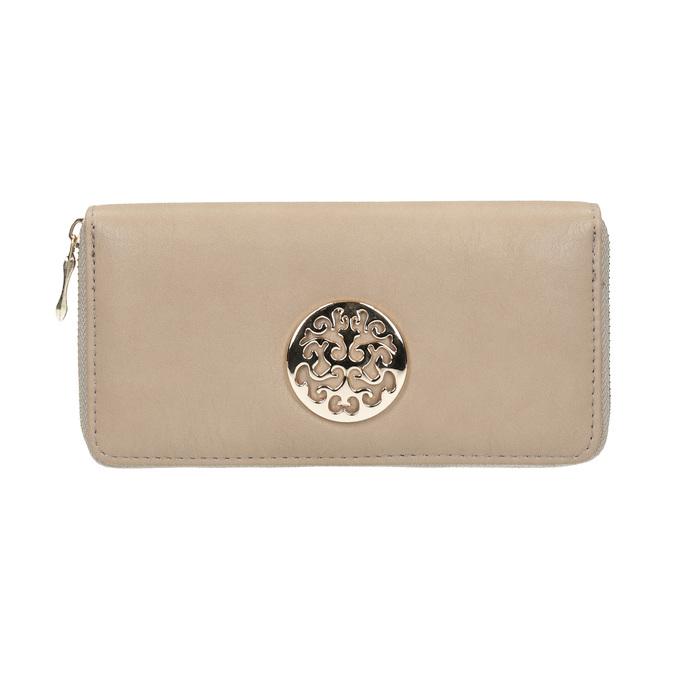 Elegantní peněženka s ozdobou bata, béžová, 941-8150 - 26
