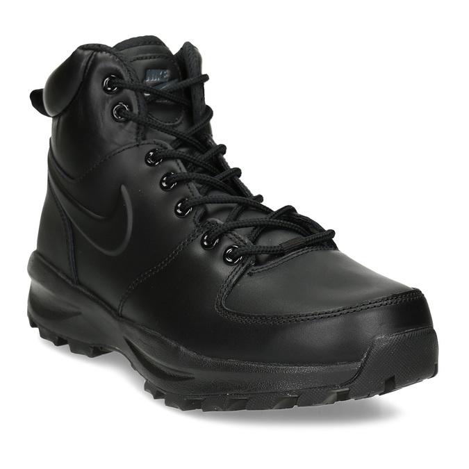 Kožená pánská kotníčková obuv nike, černá, 806-6435 - 13