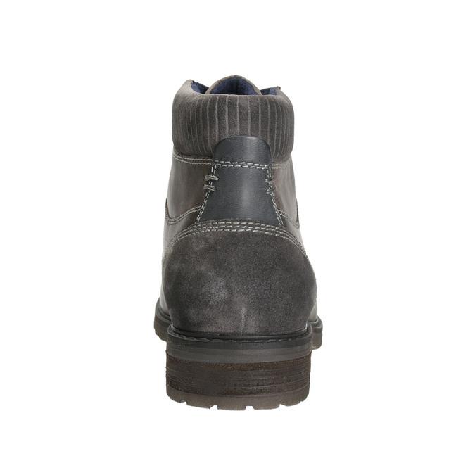 Kožená obuv ke kotníkům bata, šedá, 894-2643 - 17
