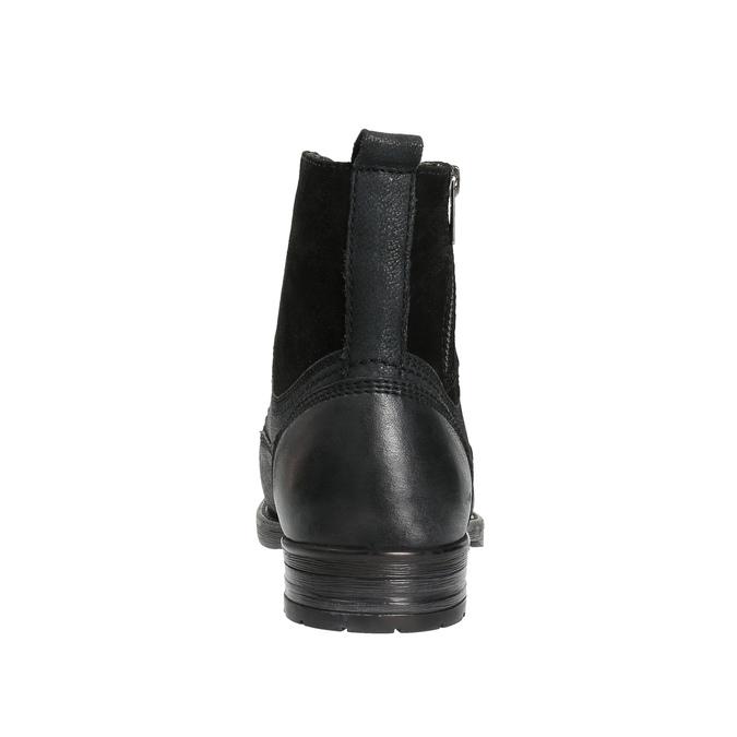 Kožená pánská obuv bata, černá, 896-6642 - 17