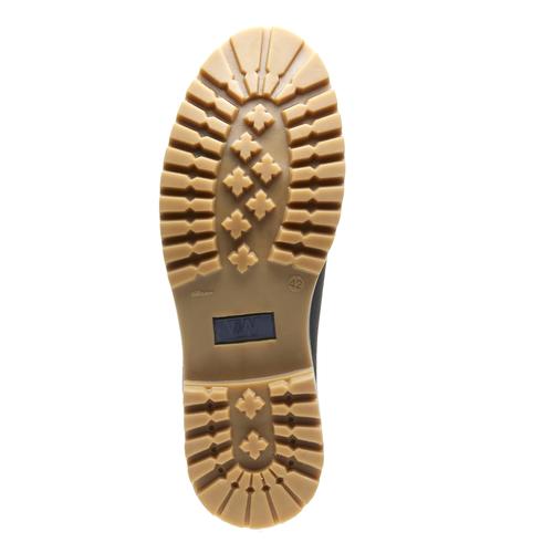 Kožená kotníčková obuv se zateplením conhpol, černá, 894-6677 - 18