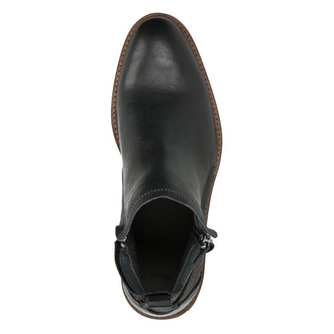 Kožená kotníčková obuv pánská bata, černá, 894-6660 - 19