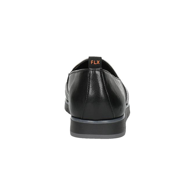 Dámské kožené Slip-on černé flexible, černá, 514-6252 - 17