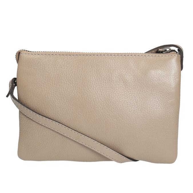 Béžová kožená Crossbody kabelka bata, béžová, 964-8212 - 26