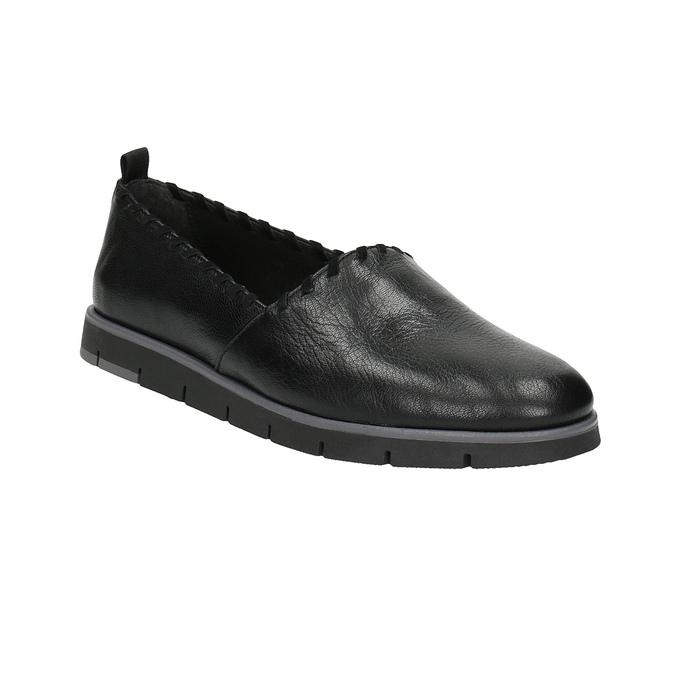 Dámské kožené Slip-on s obšitím flexible, černá, 514-6257 - 13
