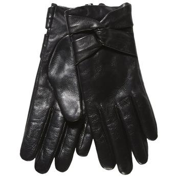 Dámské kožené rukavice bata, černá, 904-6109 - 13