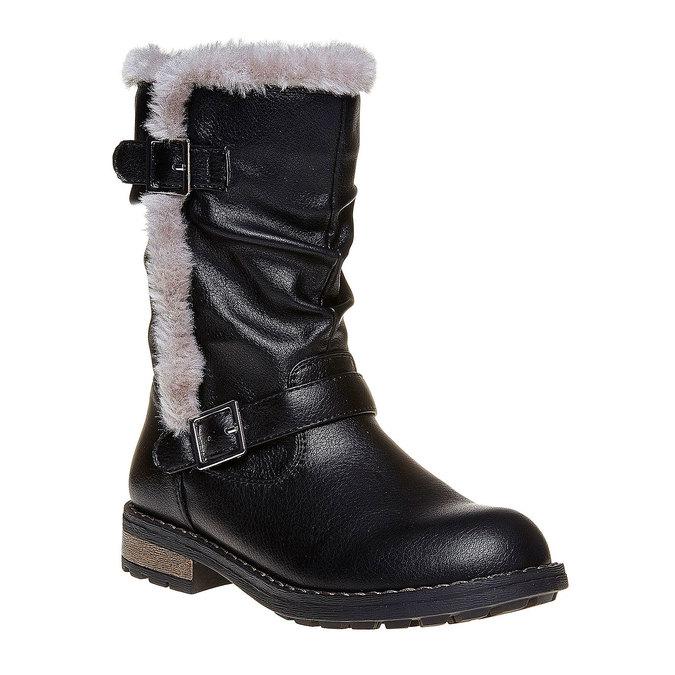 Dětské zimní kozačky mini-b, černá, 391-6245 - 13