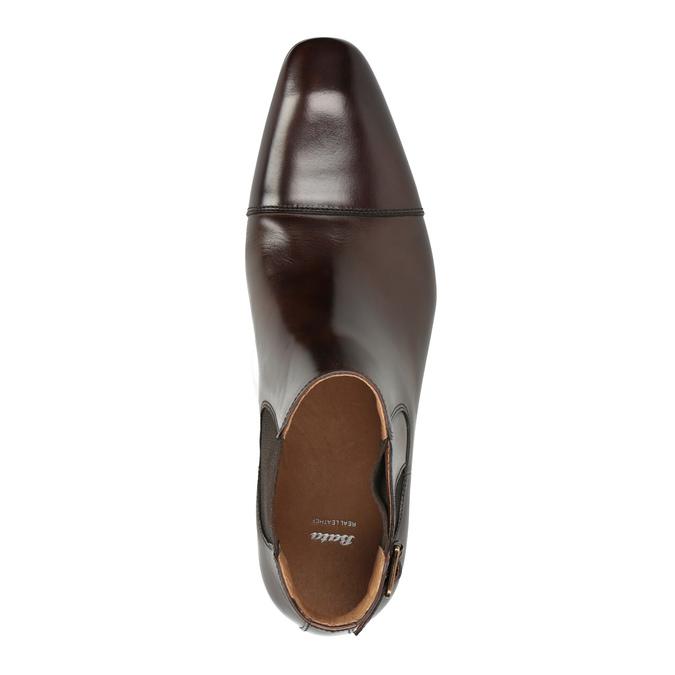 Pánská kožená kotníčková obuv bata, hnědá, 896-4655 - 19