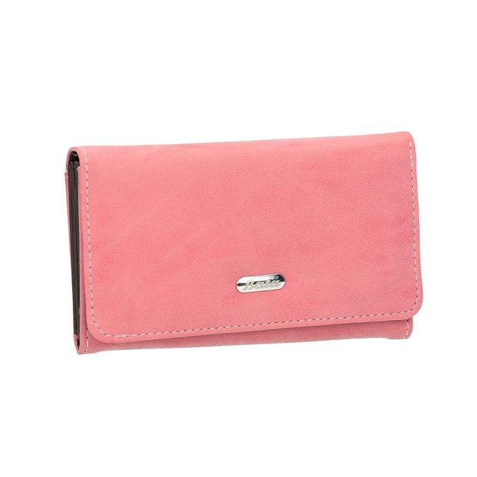 Růžová dámská peněženka bata, růžová, 941-1153 - 13
