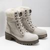Kožená zimní obuv s kožíškem bata, béžová, 696-3336 - 26