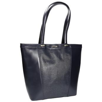 Kožená dámská kabelka gino-rossi, modrá, 964-9001 - 13