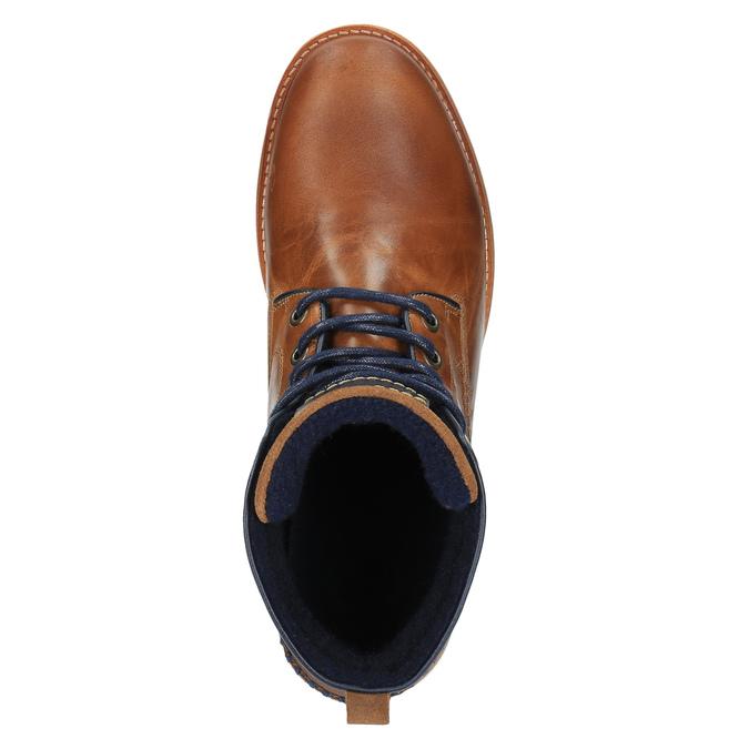 Kožená kotníčková obuv na ležérní podešvi bata, hnědá, 894-3660 - 19