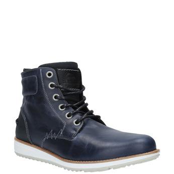Kožená kotníčková obuv na ležérní podešvi bata, modrá, 894-2660 - 13