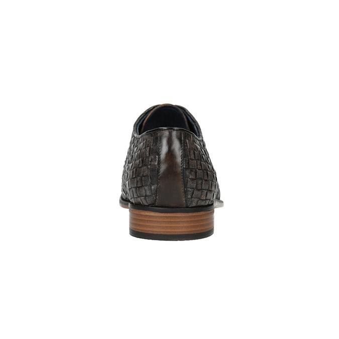 Celokožené polobotky s pleteným vzorem bata, hnědá, 826-4775 - 17