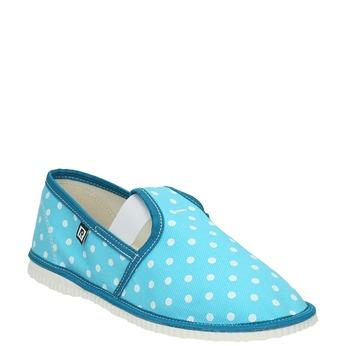 Dětská domácí obuv bata, modrá, 379-9212 - 13