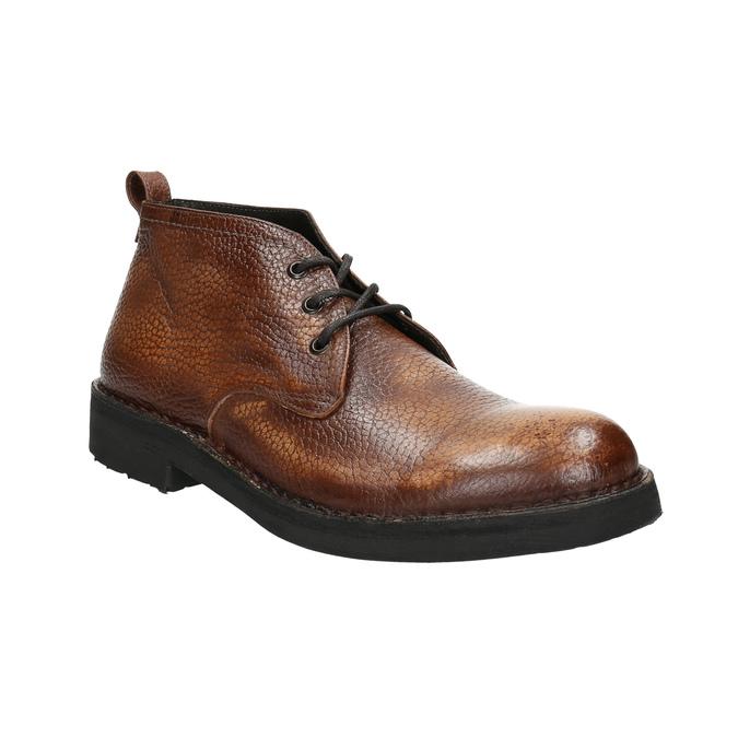 Kožená pánská kotníčková obuv bata, hnědá, 846-4607 - 13