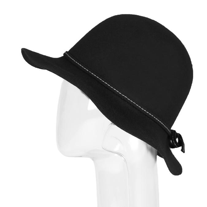 Dámský klobouk s prošitím bata, černá, 909-6294 - 26