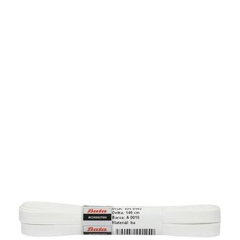 Bílé tkaničky bata, bílá, 901-1140 - 13