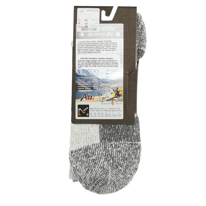 Pánské outdoorové ponožky matex, šedá, 919-2316 - 15
