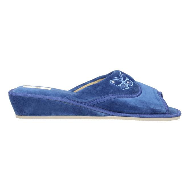 Dámská domácí obuv bata, modrá, 679-9606 - 15