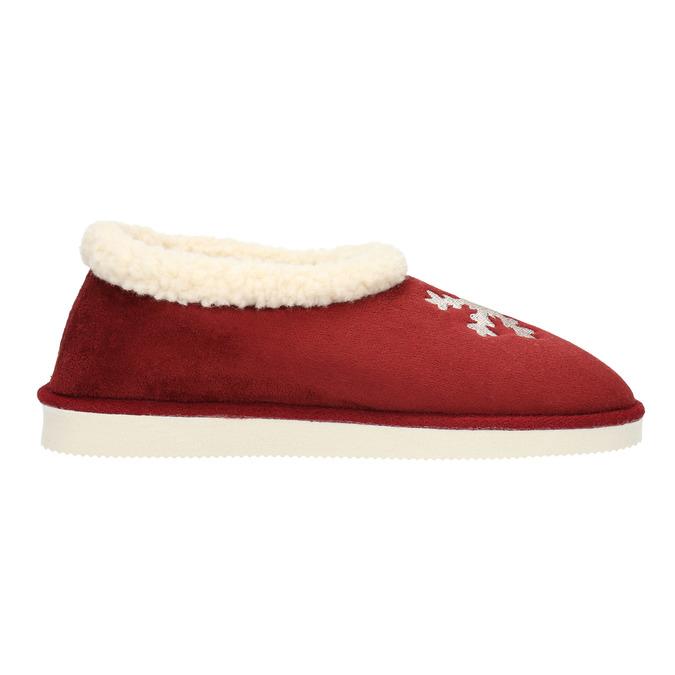Domácí pantofle s umělým kožíškem bata, červená, 579-5612 - 15