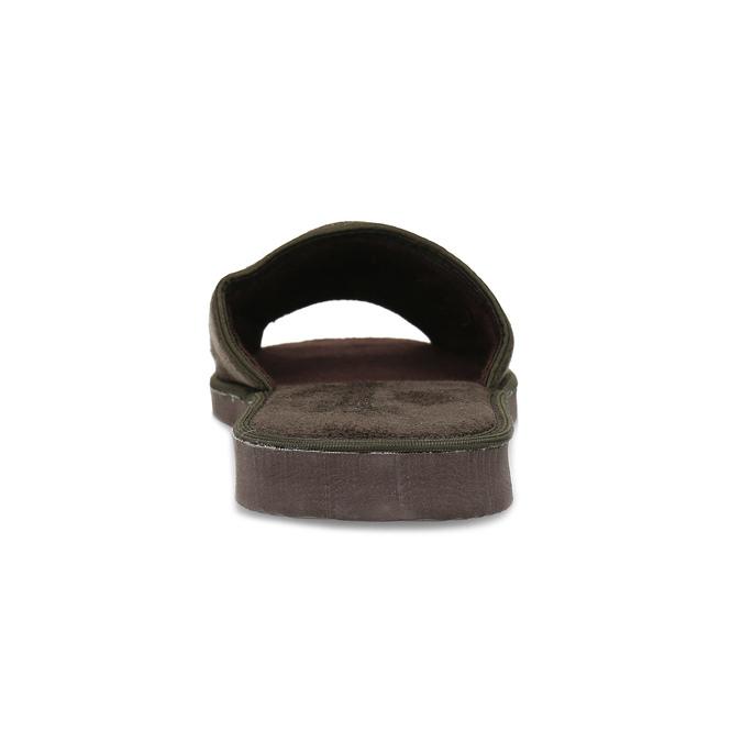Pánské hnědé domácí nazouváky bata, hnědá, 879-4606 - 15