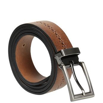 Kožený pánský opasek bata, hnědá, 954-3101 - 13