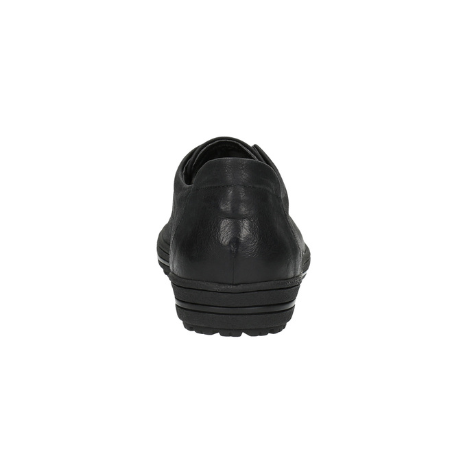 Dámské kožené tenisky bata, černá, 524-6349 - 17