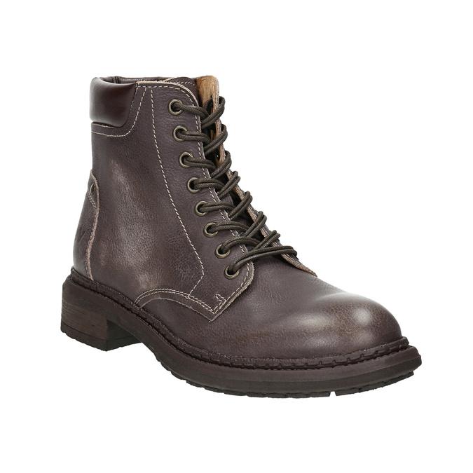 Dámská kožená kotníčková obuv weinbrenner, hnědá, 596-4632 - 13