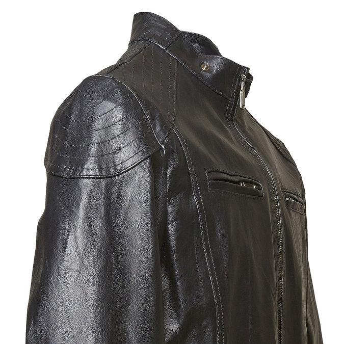 Pánská kožená bunda bata, černá, 974-6144 - 16