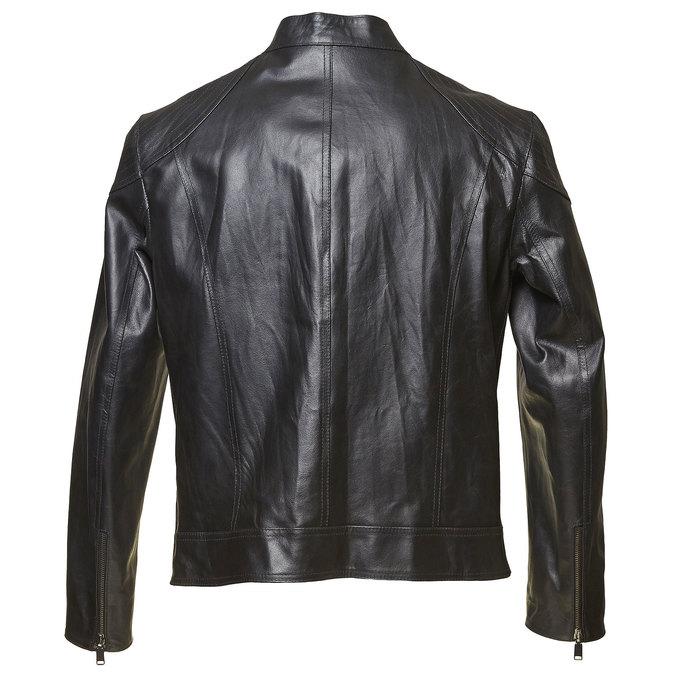 Pánská kožená bunda bata, černá, 974-6144 - 26