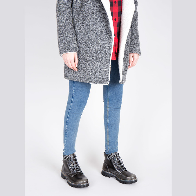 Kožená dámská zimní obuv weinbrenner, zelená, 596-7634 - 18