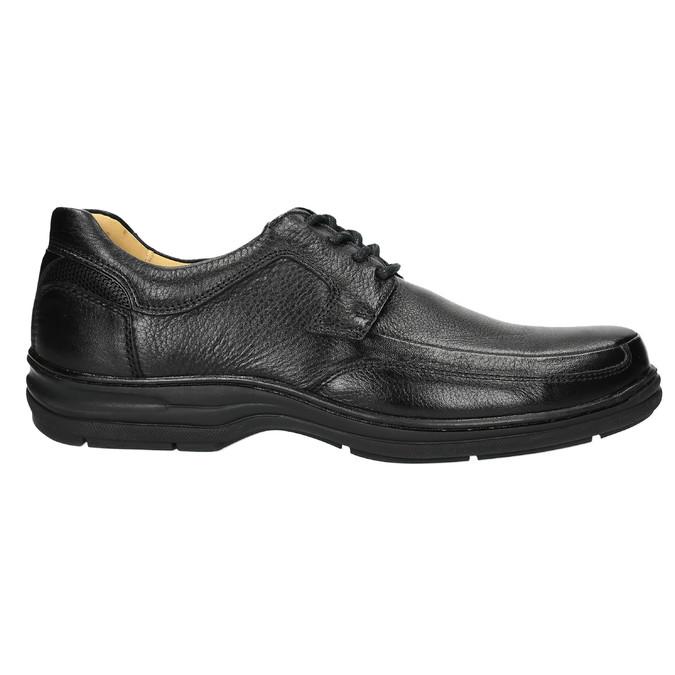 Ležérní kožené polobotky comfit, černá, 824-6719 - 15