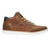 Kožené kotníčkové tenisky bata, hnědá, 844-4621 - 15