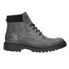 Kožené kotníčkové boty na výrazné podešvi weinbrenner, šedá, 896-2110 - 15