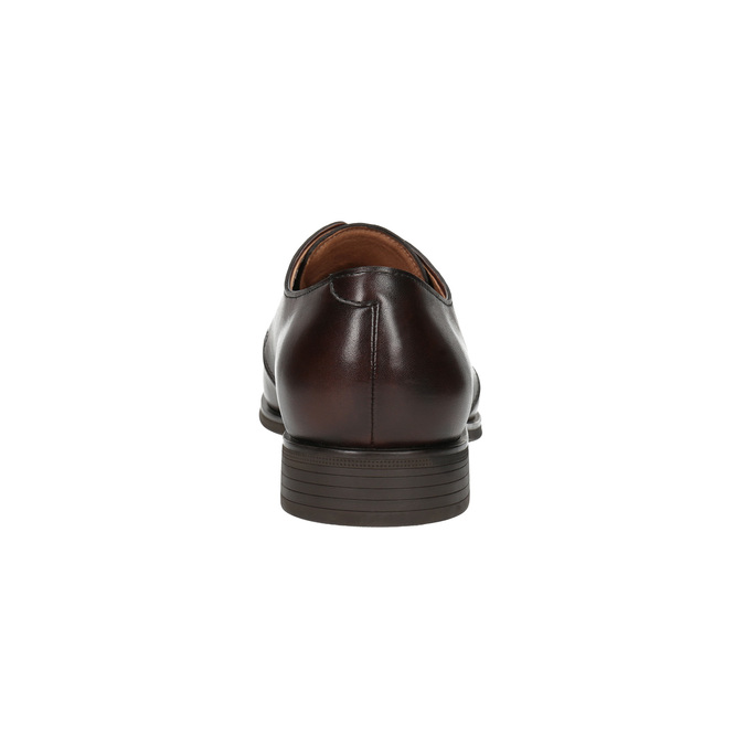 Hnědé kožené polobotky bata, hnědá, 824-4754 - 17