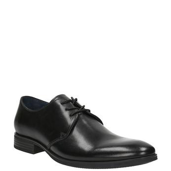 Černé kožené polobotky bata, černá, 824-6754 - 13