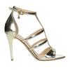 Zlaté kožené sandálky bata, zlatá, 2020-728-8644 - 15