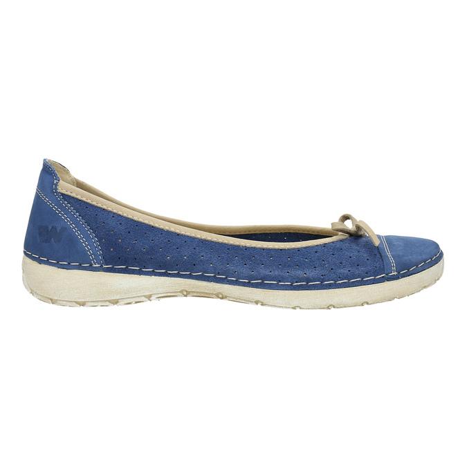 Ležérní kožené baleríny weinbrenner, modrá, 526-9503 - 15