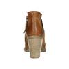 Kožené kotníčkové kozačky s rozevřeným zipem bata, hnědá, 796-4641 - 17