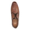Kožené polobotky se vzorem bata, hnědá, 826-3813 - 19