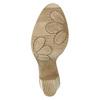 Kožené kotníčkové kozačky s rozevřeným zipem bata, hnědá, 796-5641 - 26