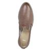 Dámské kožené Loafers bata, hnědá, 2021-516-3603 - 19